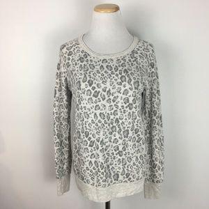 Joie Womens Cheetah Print Longsleeve Shirt Sweater